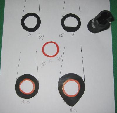 グリップの断面図の図解
