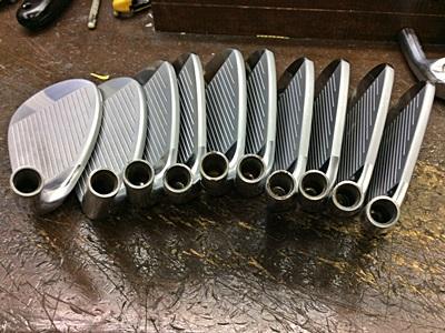オネストで、アイアンのリシャフト中, reshaft irons by HONEST