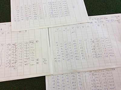 オネストで計測した記録, iron data sheets by HONEST