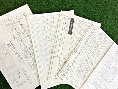 アイアン重視工房オネストのお客様との記録, customer's data sheets by honest